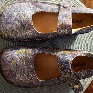 Alegria Mary Jane Shoes Sz 40 (9 US) bluish colors